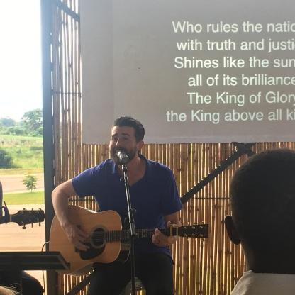 Jeffrey Leading Worship with Jason on Sunday