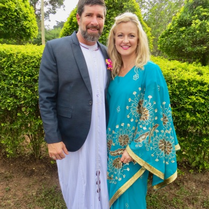 Wearing Traditional Ugandan Wear for Introduction Ceremony